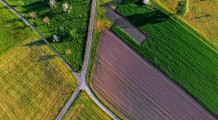 Nature Green Field Road Outdoor Path Aerial Farm